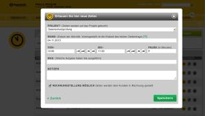 Neues Feature bei der Zeiterfassung: Die Checkbox zur Markierung, ob Zeiten in Rechnung gestellt werden sollen oder nicht.